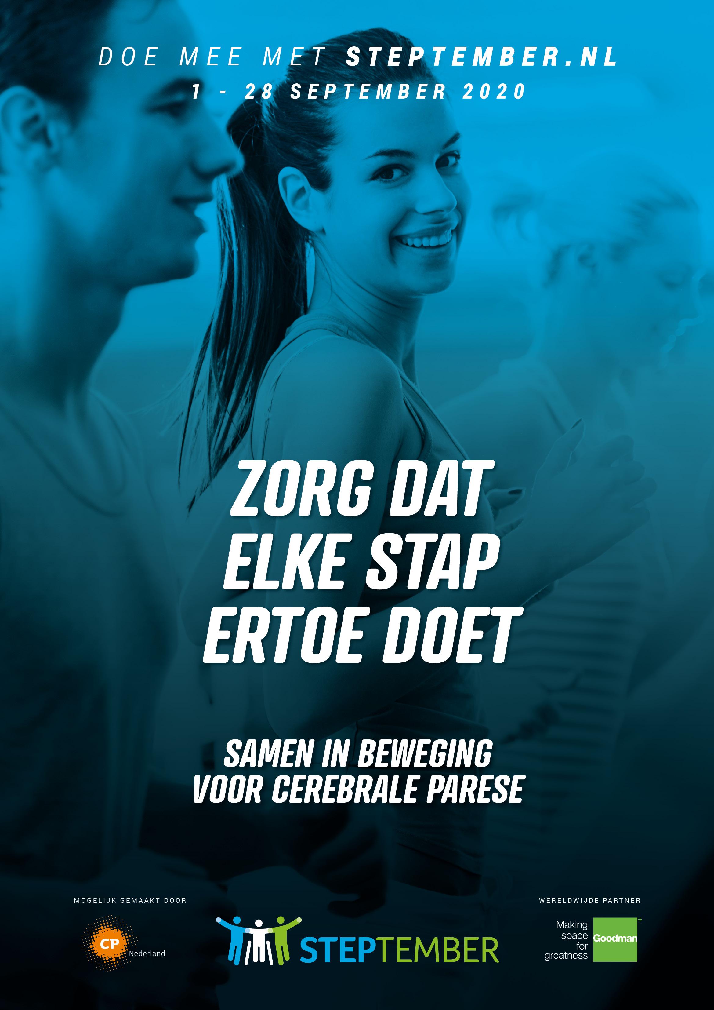 Steptember poster NL werving 2