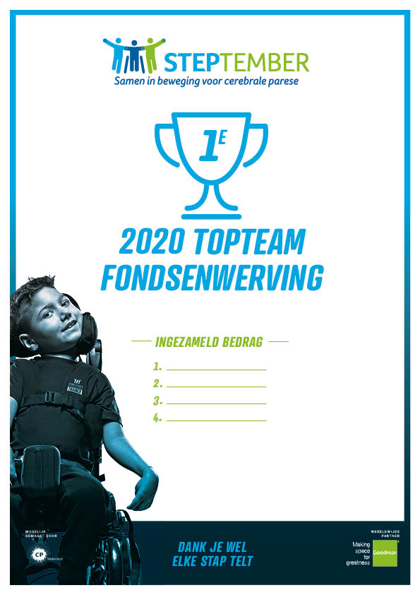 Steptember Certificaat Team Top Fondsenwerving  Nr 1