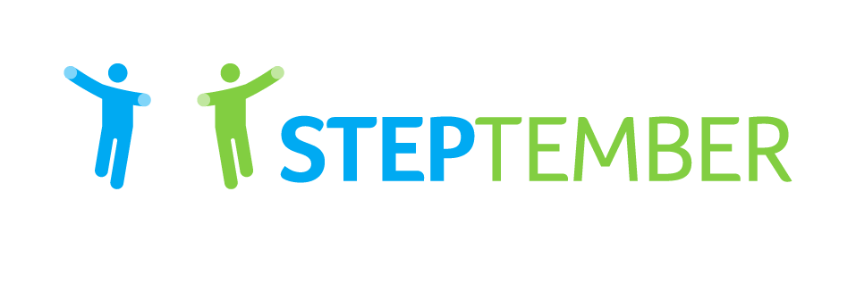Steptember logo voor donkere achtergrond