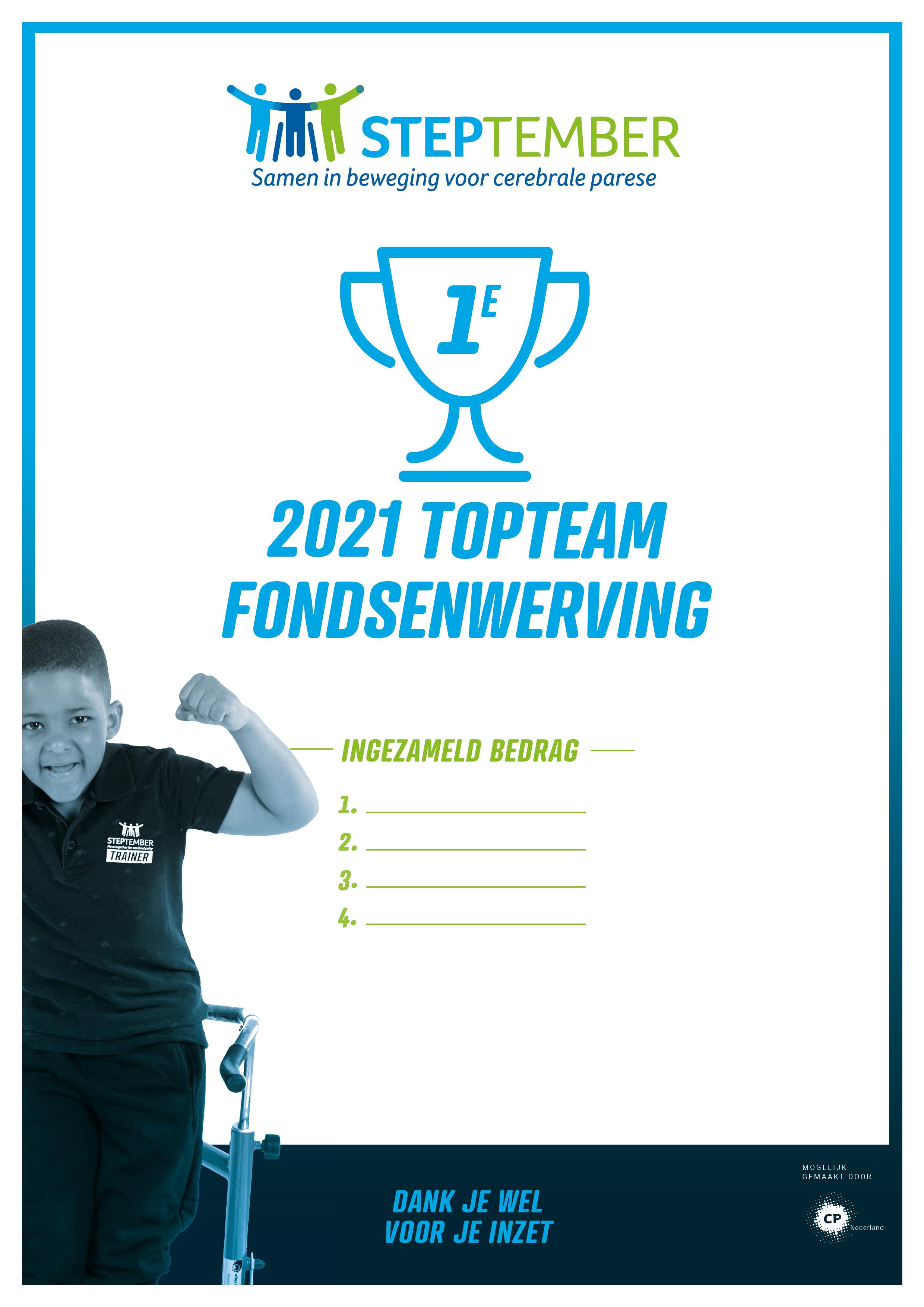 Certificaat fondsenwerving 1ste plaats