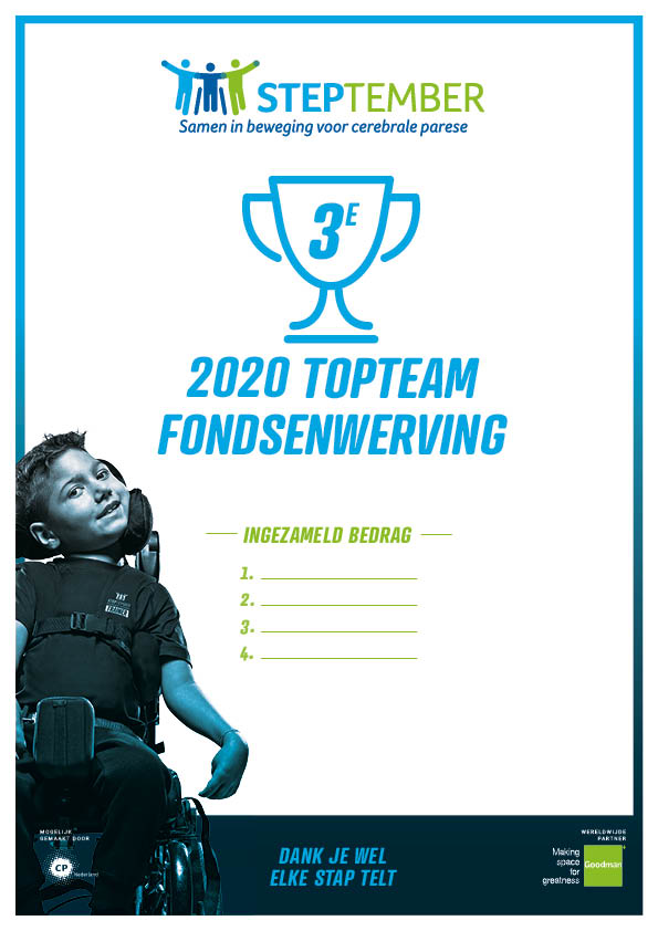 Steptember Certificaat Team Top Fondsenwerving  Nr 3